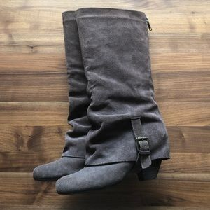 Naughty Monkey suede heeled boots